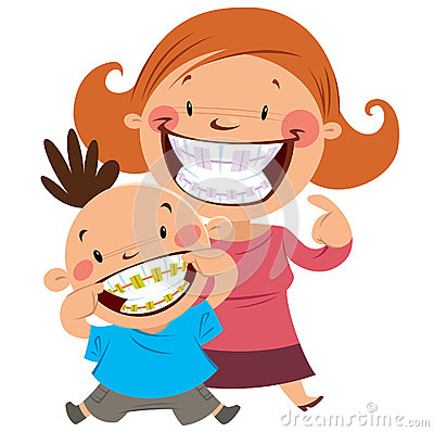 Free Happy Mom And Son With Braces Stock Image - 30279541