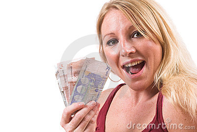 Happy with money
