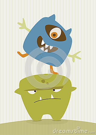 Happy Monster Illustration Happy Monster Illustration
