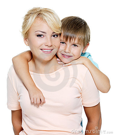 Free Happy Mother And Son Of Six Years Stock Photos - 15532373