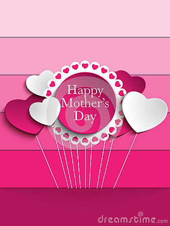 Free Happy Mother Day Heart Tag Background Stock Images - 30728054