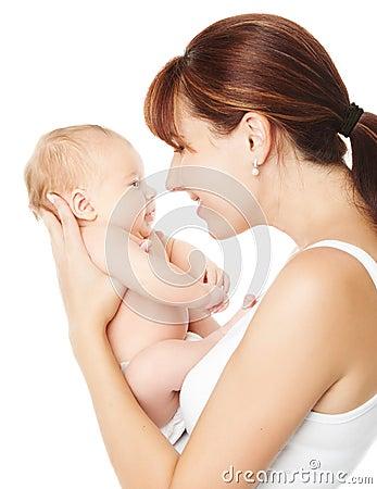 Free Happy Mother Holding Newborn Baby Stock Photos - 33666343