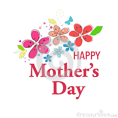 Free Happy Mother S Day Greeting Card With Hanging Heart And I Love You Text Vector Background Stock Image - 66935891