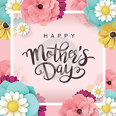 Happy Mother`s Day greeting design Vector Illustration