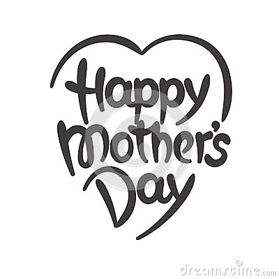 Happy Mother S Day Hand Drawn Lettering Stock Vector