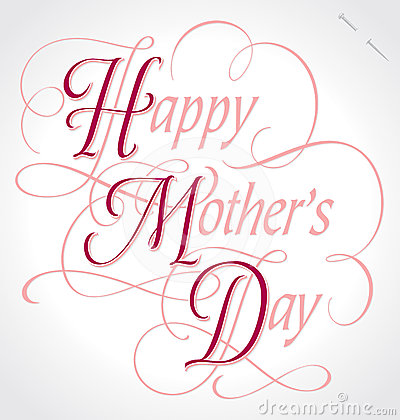 happy mothers day hand lettering (vector)