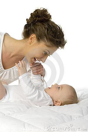 Free Happy Mother With Baby Royalty Free Stock Images - 2650719