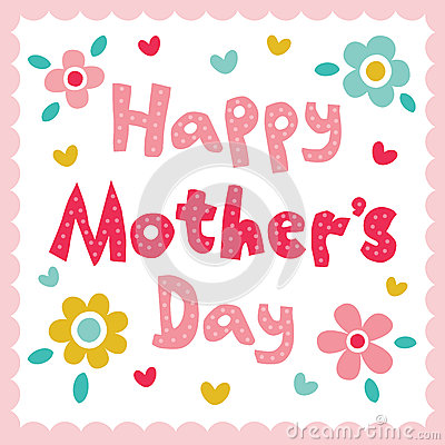 Free Happy Mothers Day Card Stock Photo - 36422600