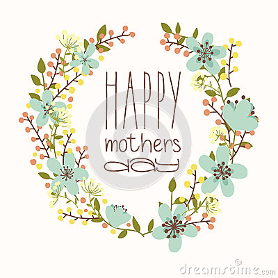 Free Happy Mothers Day Card. Stock Image - 40612391