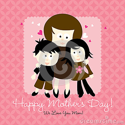 Free Happy Mothers Day Card Royalty Free Stock Photo - 9987925
