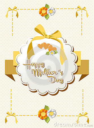 Happy Mothers Day Ribbon Background Stock Images - Image: 24720744