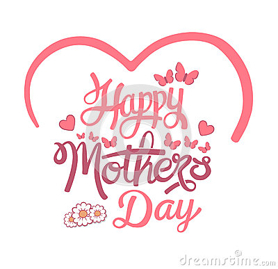 Happy mothers day vector Vector Illustration
