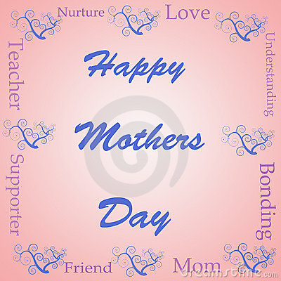 Happy mothers day word cloud