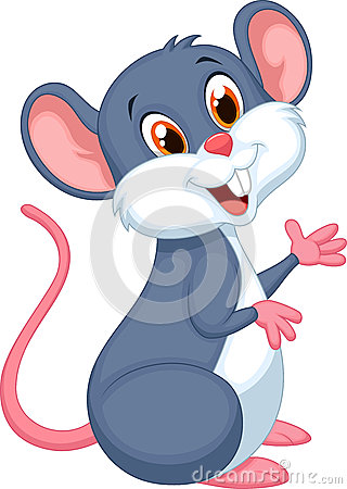 Free Happy Mouse Cartoon Royalty Free Stock Photography - 45743087