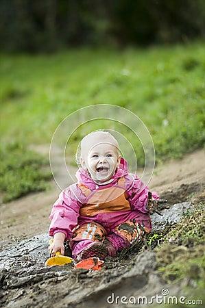 Happy Muddy Child