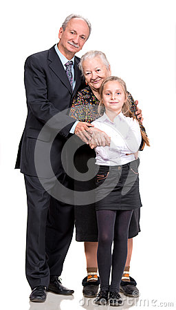 Happy multi-generation family