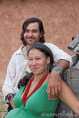 Happy multicultural couple
