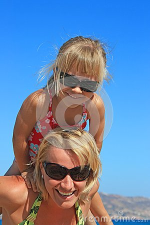 Happy mum with a daughter