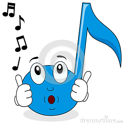 Free Happy Music Note Character Whistling Stock Images - 58080544
