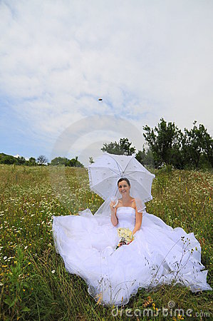 Happy nature bride