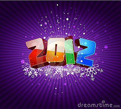 Happy new 2012 year greeting card