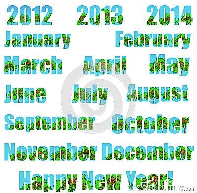 Happy New Environmental Year! (Transparent bg)
