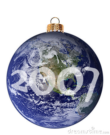 Free Happy New Planet 2007 Royalty Free Stock Image - 1371226