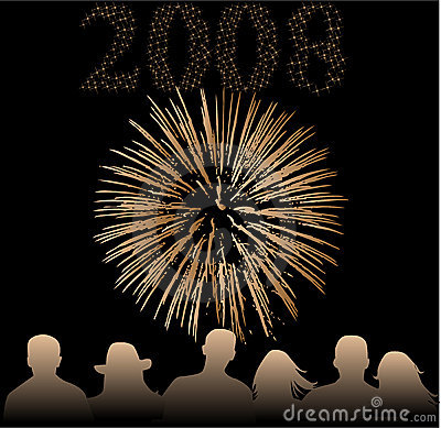 Free Happy New Year 2008 Royalty Free Stock Photography - 3556317