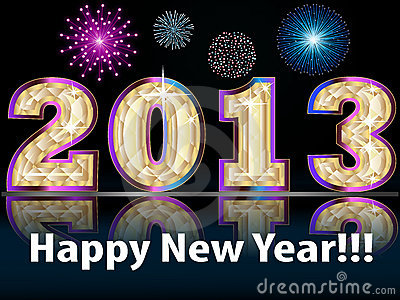 Royalty Free Stock Images: Happy New Year 2013!!!. Image: 22713929