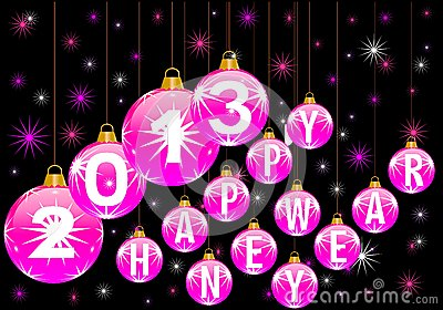 Royalty Free Stock Photos: Happy new year 2013. Image: 25993288