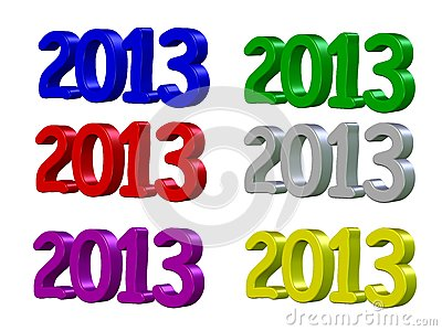 Happy New Year 2013 in 3D