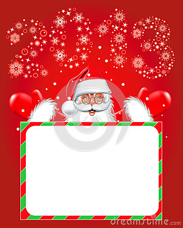 Happy new year 2013. Christmas. Santa Claus