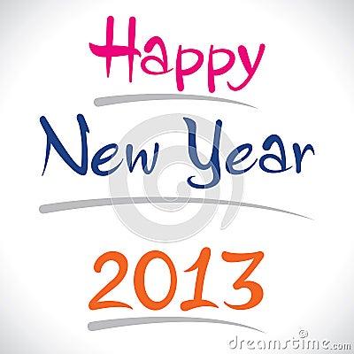 Happy new year 2013 creative design
