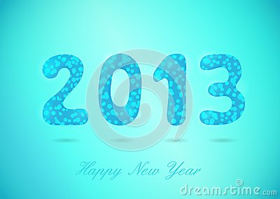 Happy New Year 2013 glossy background
