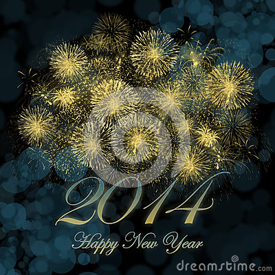 Free Happy New Year 2014 Stock Images - 28405474