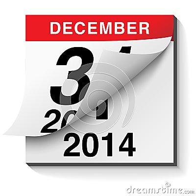 Free Happy New Year 2014 Calendar Stock Image - 35423081
