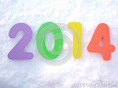 Happy New Year 2014 digits