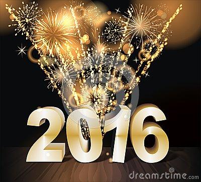 Free Happy New Year 2016 Stock Photography - 55257302