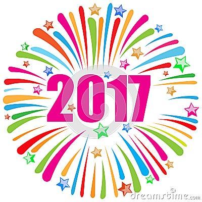 Free Happy New Year 2017 White Stock Photo - 69371940