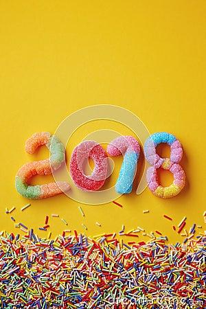 Free Happy New Year 2018 Stock Image - 104791831