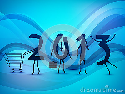 Happy New Year background with 2013