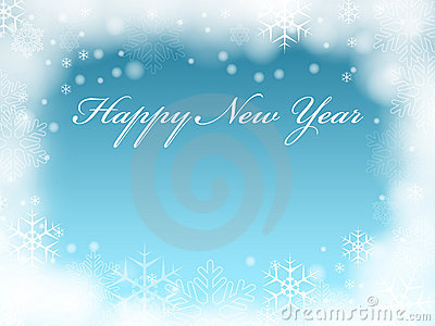 Happy New Year in blue