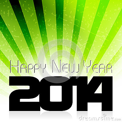 Happy New Year 2014 celebration card