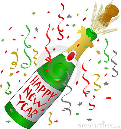 Free Happy New Year Champagne Stock Photos - 1428223