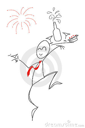 Happy new year! - clip art