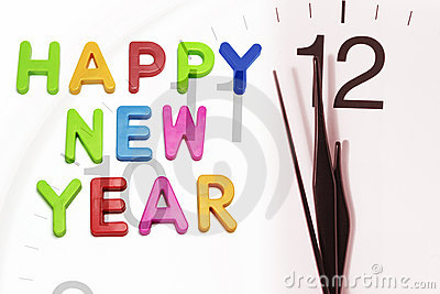 Happy New Year and Clock