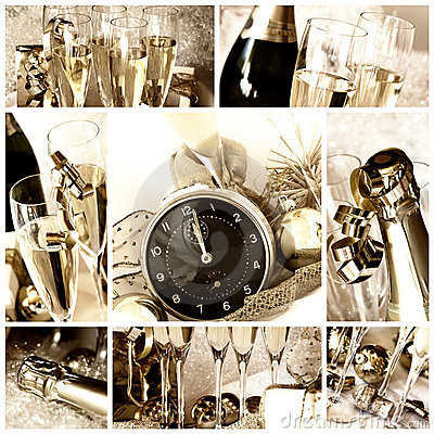 Free Happy New Year Collage Stock Photo - 16596250