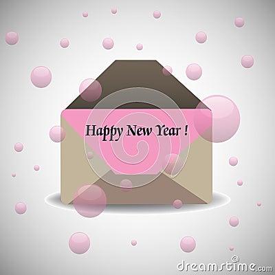 Happy New Year envelope