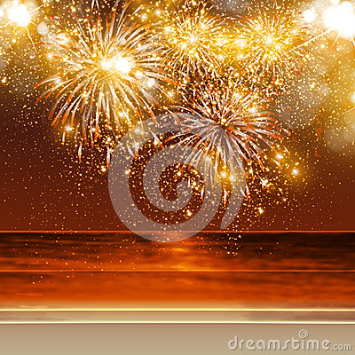 Free Happy New Year Fireworks Royalty Free Stock Images - 32948199