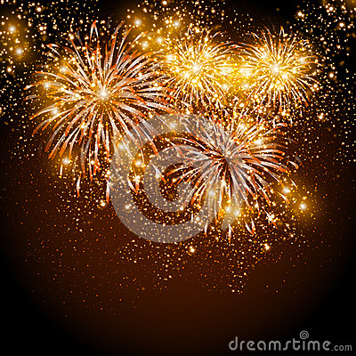 Free Happy New Year Fireworks Stock Image - 33740211